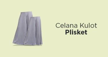 Celana Kulot Plisket