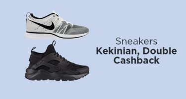 Sneakers Pria, Double Cashback