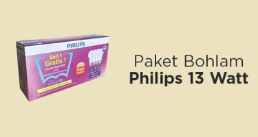 Paket Bohlam Philips 13 Watt