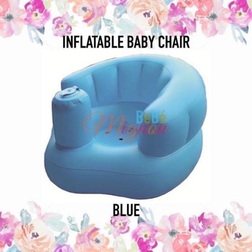Foto Produk MERITON INFLATABLE BABY CHAIR - Sofa Kursi Angin Pompa Bayi Tiup Duduk - Biru Polos dari Bebe Mignon Shop