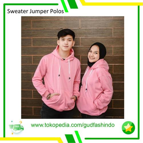 Foto Produk SWEATER JUMPER POLOS / HOODIE JUMPER - warna dicatatan, L dari Gudang Fashion Indonesia