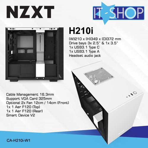 Foto Produk NZXT Casing Gaming H210i White Matte dari IT-SHOP-ONLINE