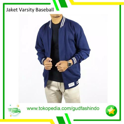 Foto Produk Jaket Pria Wanita Varsity Rosal Baseball - Biru, L dari Gudang Fashion Indonesia