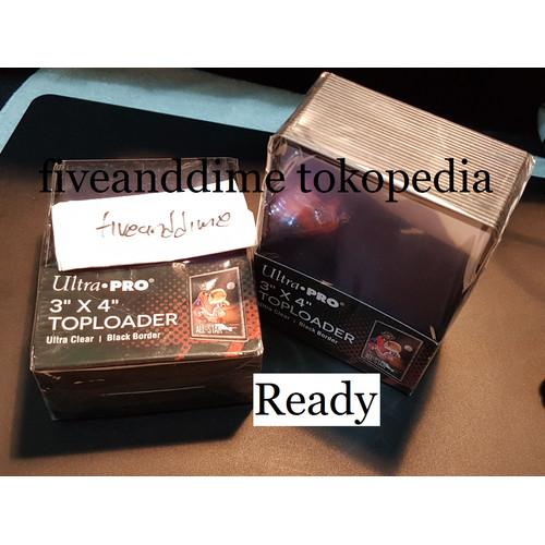Foto Produk Top loader Toploader Ultra Pro Ultrapro 3 x 4 Regular Satuan - Hitam Limited dari fiveanddime