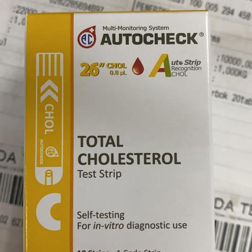 Foto Produk autocheck cholesterol strip autochek kolesterol dari aleshafarma
