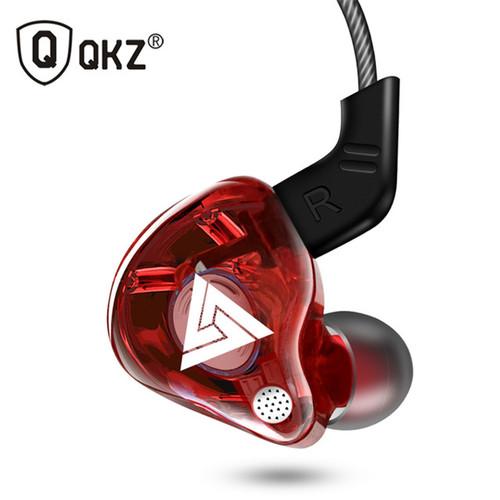 Foto Produk QKZ AK6 Earphone Headset Super Bass Dual Driver HiFi Gaming Headset - Merah dari Gadget Supplier ID
