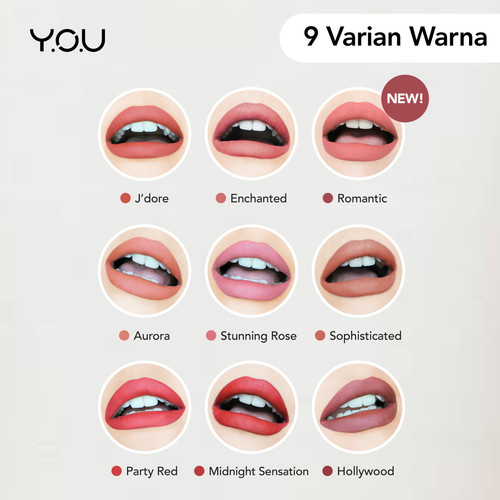 Foto Produk YOU Luscious Lip Cream [ All Day matte Finish] - Enchanted dari YOU Makeups Official