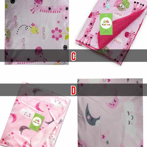 Foto Produk Selimut Bayi Carter / Selimut Double Fleece / Baby Blanket Carter - motif J dari bRitz Baby Shop