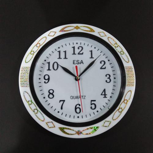 Foto Produk Jam Dinding Esa 736 Bulat With Quartz Movement Diameter 22 cm - Kuning dari MUSIC ANGEL