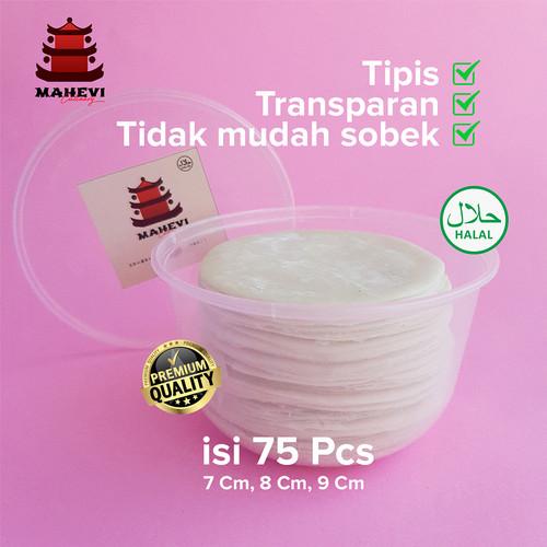 Foto Produk Kulit Dimsum / Gyoza / Dumpling Premium Hand Made 100% Halal isi 75 - Diameter 7 Cm dari Mahevi Store