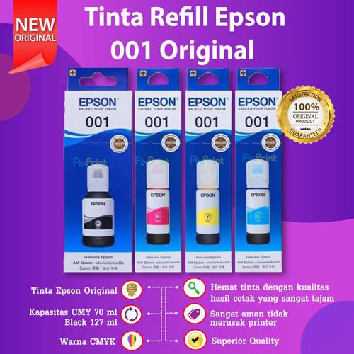 Foto Produk Tinta Epson 001 1SET CMYK PRINTER L4150 L6160 L6170 L6190 ORIGINAL dari FixPrint Indonesia