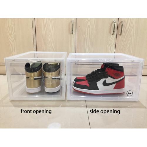 Foto Produk kotak sepatu transparan/shoes box ukuran besar (ekstra besar) - SIDE OPEN CLEAR dari watch store16