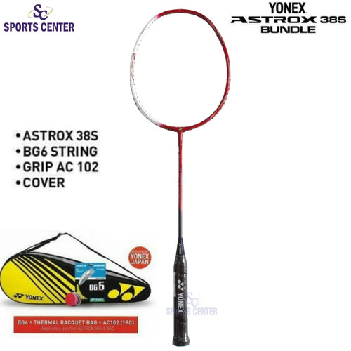 Foto Produk Full Set Raket Badminton Yonex Astrox 38S / Astrox 38 S 4U G5 dari Sports Center