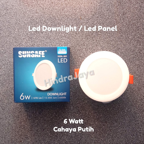 Foto Produk Lampu Led Downlight 6W / Led Panel 6 Watt dari Hindrajaya