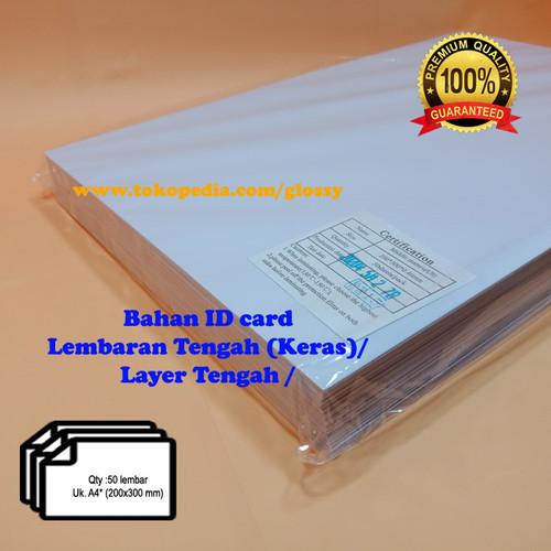 Foto Produk BAHAN PVC ID CARD 50 lembar - PVC nya saja - Lembaran Keras/Tengah dari GLOSSY