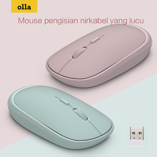 Foto Produk bonkyo Wireless Optical Mouse Dan Minimalism - MSE6 - Hijau dari Ollaofficial