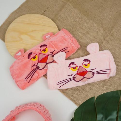 IKAT RAMBUT HEADBAND HAIRBAND BANDO BANDANA CUCI MUKA PINK PANTHER - Pink Tua 4