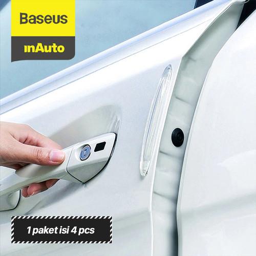 Foto Produk BASEUS BUMPER STRIP TRANSPARENT DOOR GUARD PELINDUNG PINTU MOBIL - Putih dari Baseus Auto Life