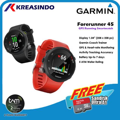 Foto Produk Garmin Forerunner 45 Watch Garansi Resmi - Black dari Kreasindo Online