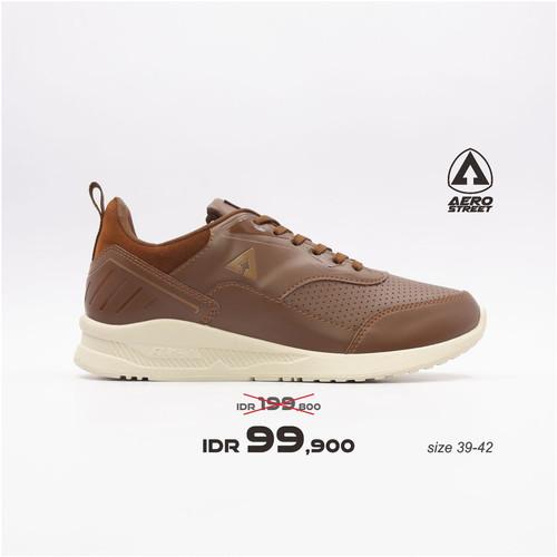 Foto Produk Aerostreet 39-42 Tiger Coklat - Sepatu Sneakers Casual Pria - 40 dari Aerostreet