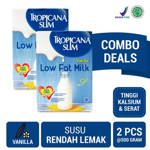 Foto Produk Twin Pack (2 Pcs) - Tropicana Slim Milk Low Fat Vanilla 500gr dari NutriMart