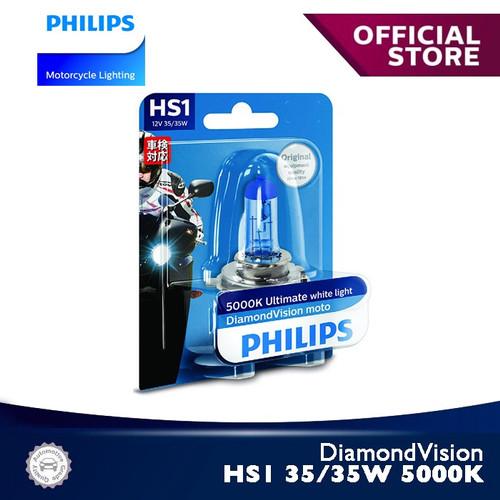 Foto Produk DiamondVision 35/35W HS1 5000K 12636DVB1 Bola Lampu Motor Philips dari Philips Moto