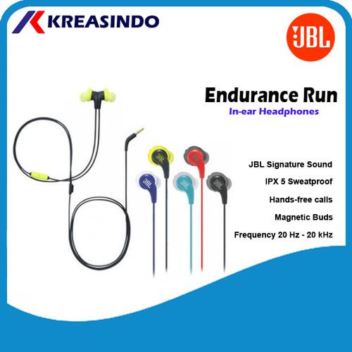 Foto Produk JBL Endurance Run Earphone Original Garansi Resmi IMS - Teal dari Kreasindo Online