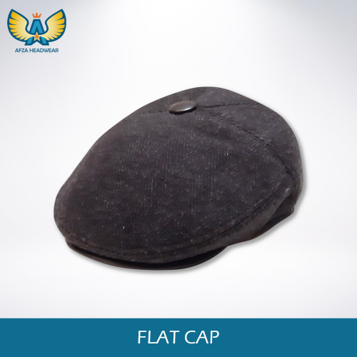 Foto Produk Flat Cap Newsboy Hat Topi patino motif garis - Black dari AFZA HEADWEAR