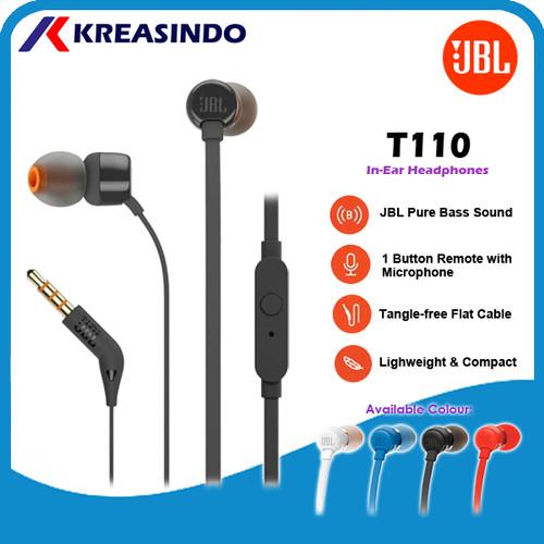 Foto Produk JBL T110 Earphone Original Garansi Resmi IMS - Hitam dari Kreasindo Online