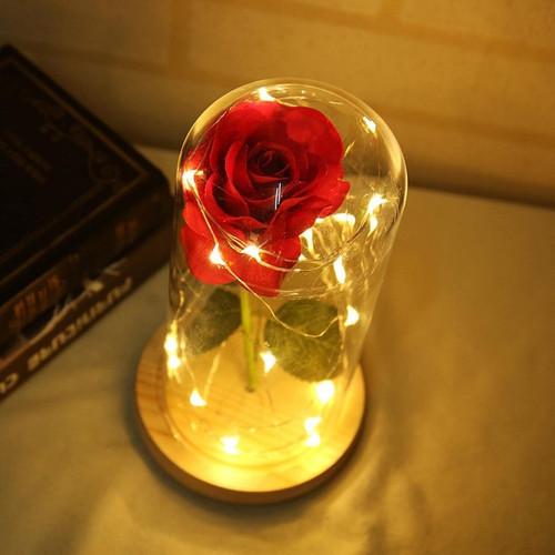 Foto Produk Bunga Mawar Lampu LED Dekorasi Beauty and The Beast Rose - Merah dari SAEF STORE