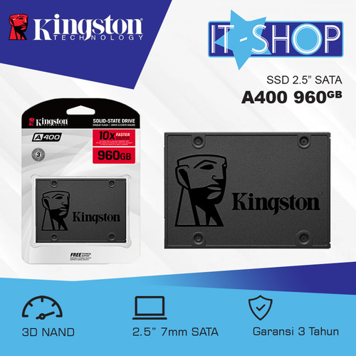 Foto Produk Kingston SSD A400 960GB dari IT-SHOP-ONLINE