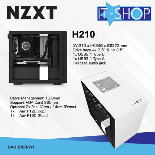 Foto Produk NZXT Casing Gaming H210 White Matte dari IT-SHOP-ONLINE