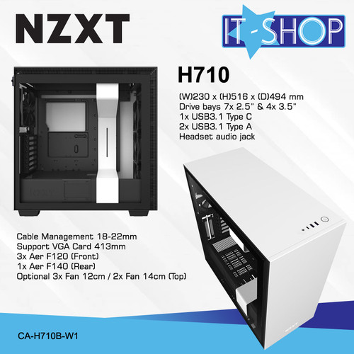 Foto Produk NZXT Casing Gaming H710 White Matte dari IT-SHOP-ONLINE