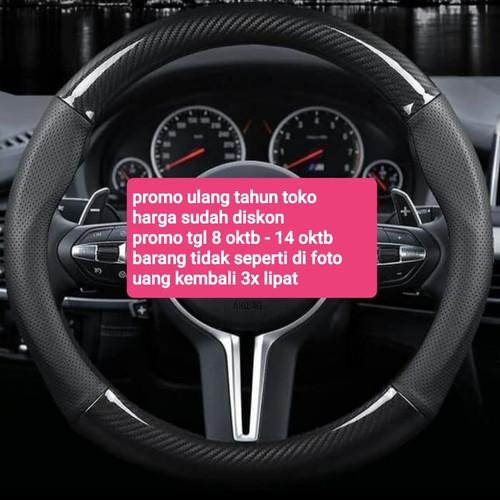 Foto Produk cover sarung setir stir mobil car kulit asli carbon karbon dari D & K aksesoris