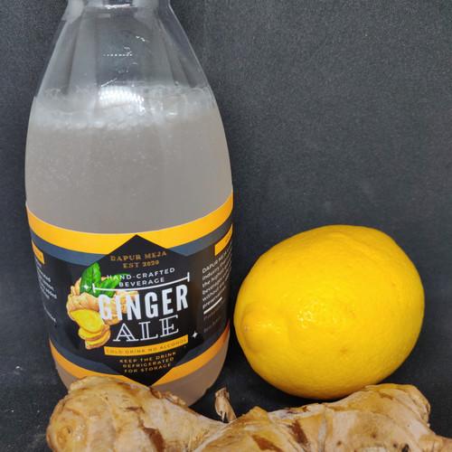 Foto Produk minuman soda Ginger Ale 300 mL pakai jahe dan lemon import asli dari mega jaya aquaponic