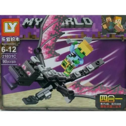Jual Lego Minecraft Zombie And Ender Dragon Black My World Bootleg Jakarta Timur Tmshop01 Tokopedia