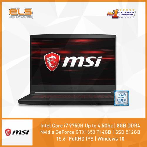 Foto Produk MSI GF63-9SCSR-882ID - Black [i7 9750H-8GB-512GB-GTX1650Ti-W10] dari ELS Computer