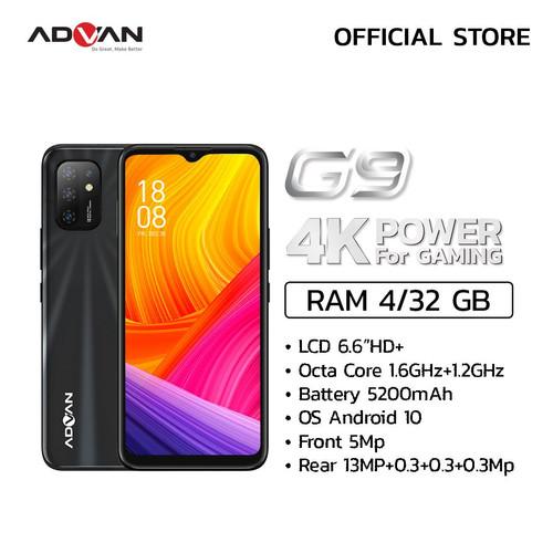 Foto Produk Advan G9 6.6 Inci 4GB 32GB Quad Camera Octacore Smartphone Android 10 - Hitam dari Advan Official Store