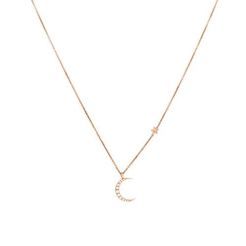 Foto Produk Diamond Pendant Collier Luna Stella Mother dari SBS Jewellery Official