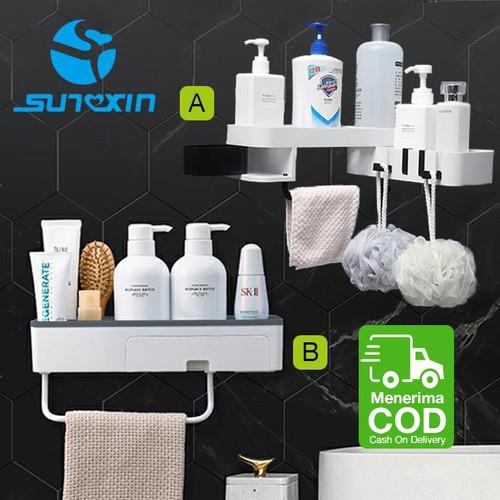 Foto Produk Rak Sabun Shampoo Rak Toilet Kamar Mandi Rak Tempel Dinding Sudut Rak - Model B dari SUNXIN