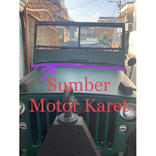Foto Produk Karet Frame Bawah Kaca Jeep Willys dari Sumber motor karet
