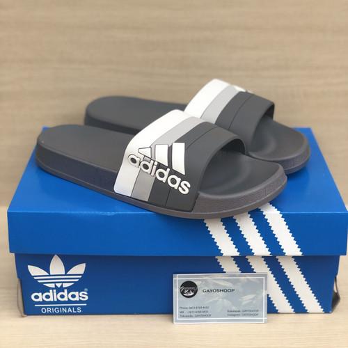 Foto Produk Sandal Adidas Adilette Slide Pria Motif Black Import dari Gayoshoop