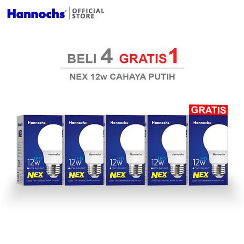 Foto Produk Hannochs Lampu LED NEX 12 watt Cahaya Putih ( BELI 4 GRATIS 1 ) dari Hannochs Official Store