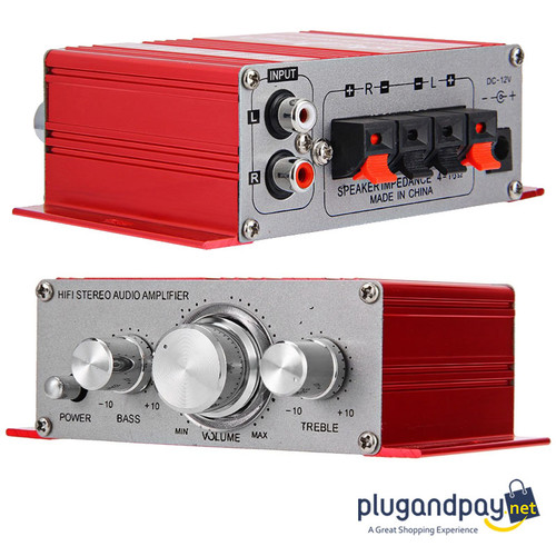 Foto Produk Lepy Hi-Fi Stereo Amplifier Speaker 2 channel 20W 2001 Audio Ampli Tam dari plugandpay