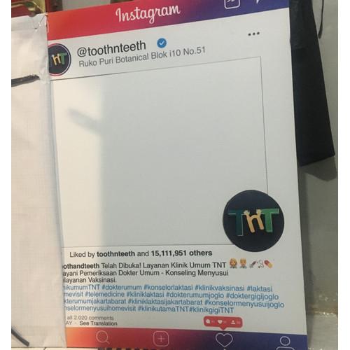 Foto Produk Jual Frame photo booth Instagram, Facebook, Snapchat Props dari embunpagi-ad