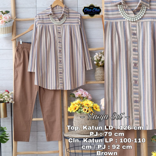 Foto Produk New Rasya Set Setelan Celana Wanita Jumbo Baju Kerja Big Size Modis dari Ilyassa Shop