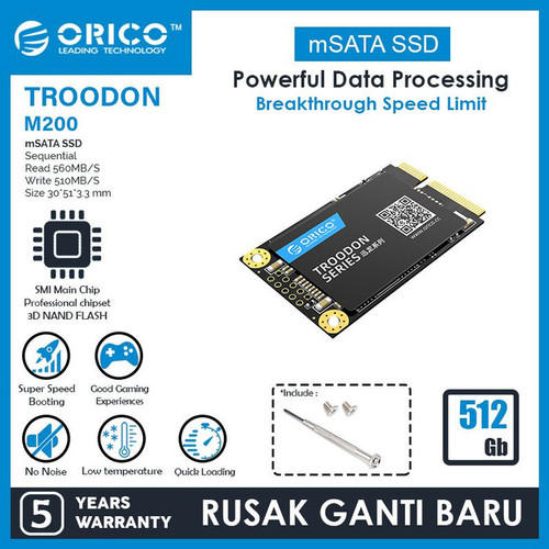 Foto Produk ORICO M200-512GB mSATA SSD dari manekistore