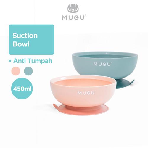 Foto Produk MUGU Suction Bowl Mangkok Makan Bayi Anak Anti Tumpah 450ml - Merah Muda dari MOOIMOM Official