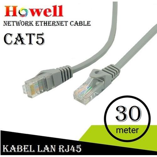 Foto Produk Howell Kabel Lan UTP Cat5 30m - Internet / Ethernet Cable RJ45 Cat5E dari Glodok VCD