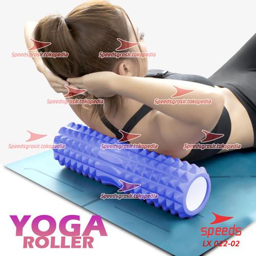 Foto Produk Yoga Roler Foam Roller Gym Fitness FLEXFIT Yoga Olahraga Pilates 022-2 - Biru dari speedsgrosir